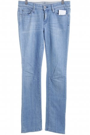7 For All Mankind Straight-Leg Jeans hellblau Street-Fashion-Look