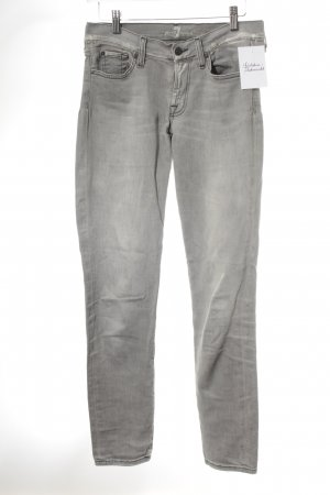 7 For All Mankind Straight Leg Jeans light grey second hand look