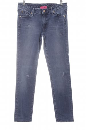 7 For All Mankind Straight-Leg Jeans himmelblau-graublau Destroy-Optik