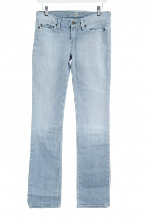 7 For All Mankind Straight-Leg Jeans himmelblau Logo-Applikation