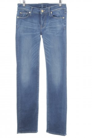 7 For All Mankind Straight-Leg Jeans kornblumenblau Casual-Look