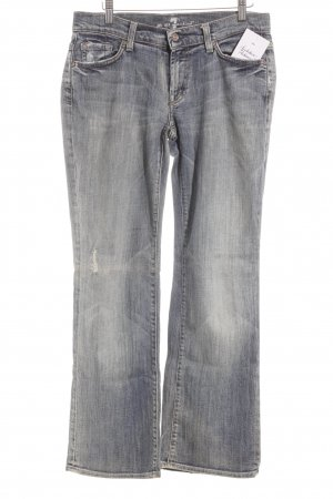 7 For All Mankind Vaquero rectos azul aciano look casual