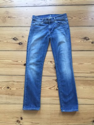 7 for all Mankind Straight Leg Jeans – leuchtendes Blau!