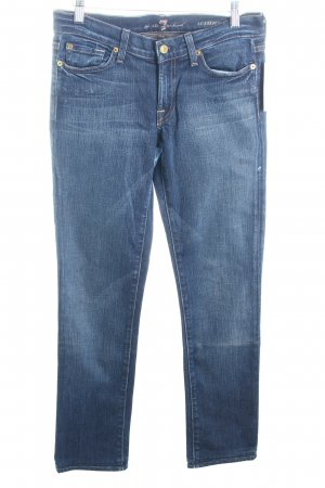 "7 For All Mankind Straight-Leg Jeans ""Roxanne"" blau"