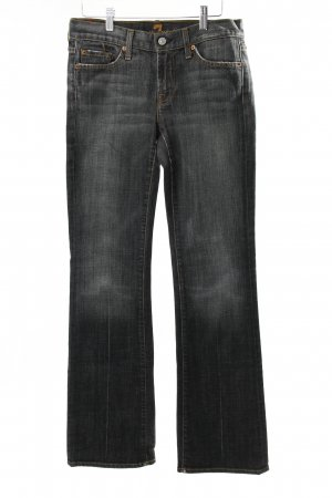 7 For All Mankind Straight-Leg Jeans schwarz-grau Used-Optik