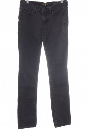 7 For All Mankind Straight-Leg Jeans schwarz schlichter Stil