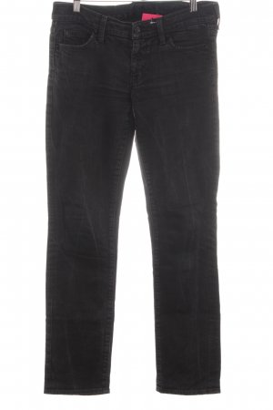 7 For All Mankind Vaquero rectos negro estilo sencillo