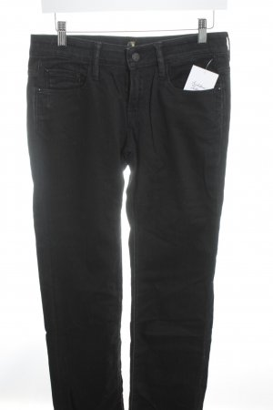7 For All Mankind Straight-Leg Jeans schwarz Street-Fashion-Look