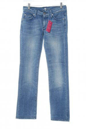 7 For All Mankind Straight-Leg Jeans stahlblau Casual-Look