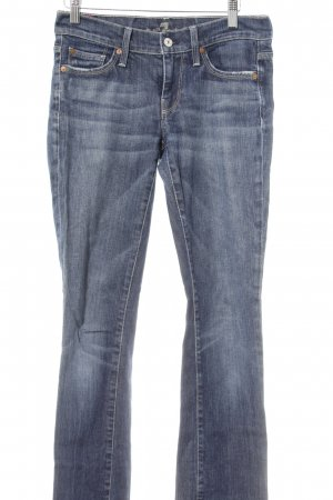 7 For All Mankind Jeans a gamba dritta blu acciaio stile casual