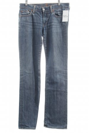 7 For All Mankind Vaquero rectos azul acero-azul oscuro look casual