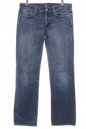 7 For All Mankind Jeans a gamba dritta blu acciaio stile jeans