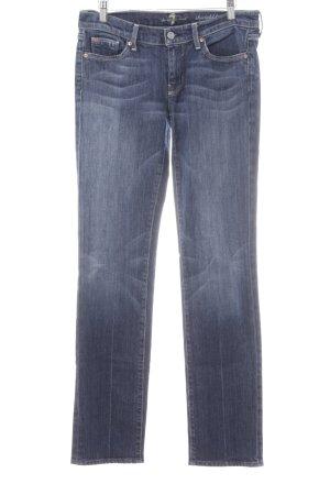 7 For All Mankind Straight-Leg Jeans stahlblau Jeans-Optik