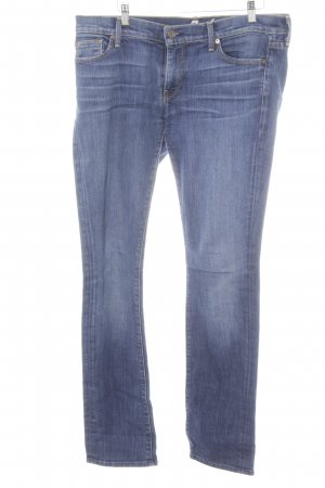 7 For All Mankind Straight-Leg Jeans stahlblau klassischer Stil