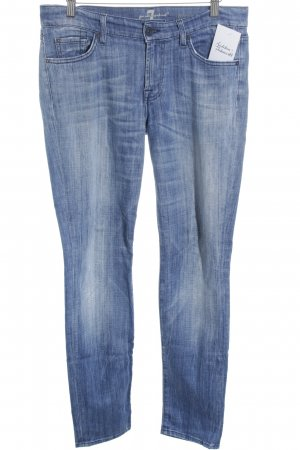 7 For All Mankind Vaquero rectos azul acero-azul aciano look casual
