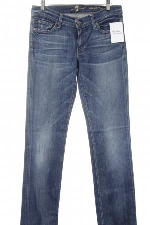7 For All Mankind Jeans coupe-droite bleu acier-bleuet style classique