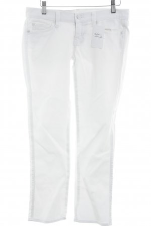7 For All Mankind Jeans coupe-droite blanc style décontracté