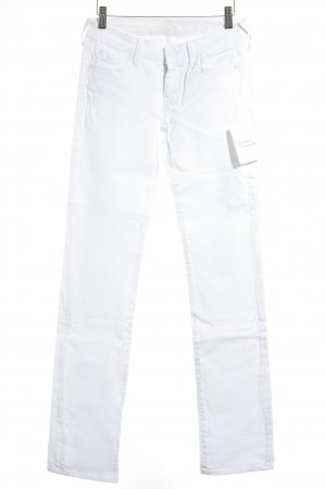 7 For All Mankind Straight Leg Jeans white classic style