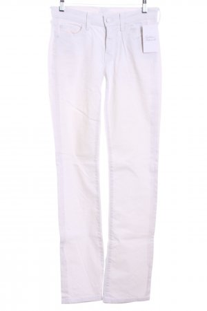 7 For All Mankind Vaquero rectos blanco estilo clásico