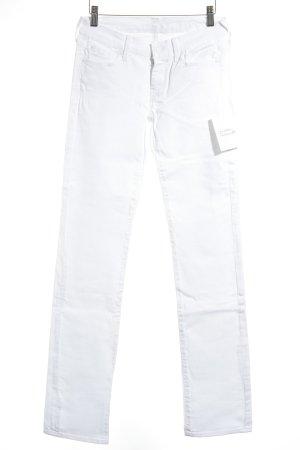 7 For All Mankind Straight-Leg Jeans weiß klassischer Stil