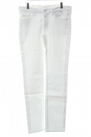 7 For All Mankind Straight-Leg Jeans weiß schlichter Stil