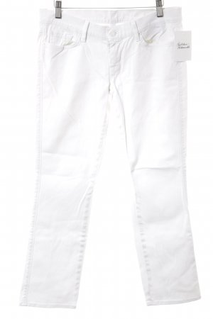 7 For All Mankind Straight-Leg Jeans weiß Street-Fashion-Look