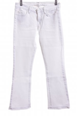 7 For All Mankind Jeans stretch blanc style décontracté
