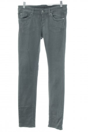 7 For All Mankind Stretch Jeans grau-silberfarben Street-Fashion-Look