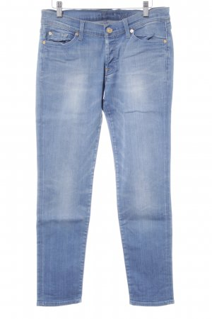 7 For All Mankind Stretch Jeans kornblumenblau Jeans-Optik