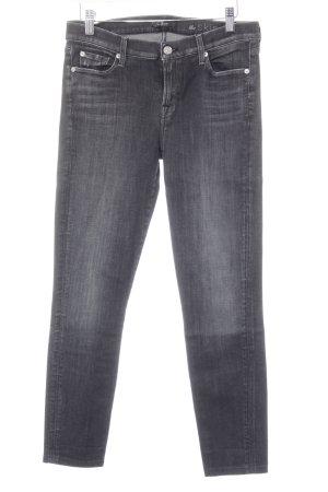 7 For All Mankind Stretch Jeans schwarz Jeans-Optik