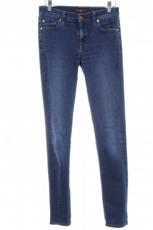 7 For All Mankind Stretch Jeans stahlblau Vintage-Look