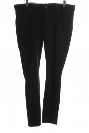 7 For All Mankind Pantalón elástico negro look casual