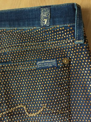 7 For All Mankind Jeans blue-gold-colored