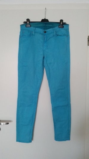 7 For All Mankind Pantalón de tubo azul claro-turquesa