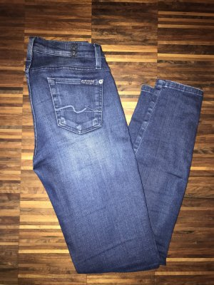 7 For All Mankind Vaquero skinny multicolor Algodón