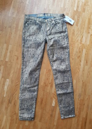 7 FOR ALL MANKIND THE SKINNY JEANS SLIM FIT GOLD PLUMAGE W28