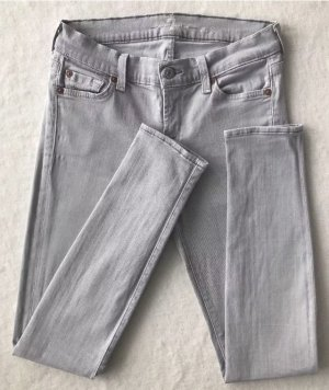 7 for all mankind The Skinny / light grey / 34, W26 / Jeans Grau