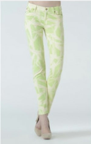 7 for all mankind The Skinny Ray Of Lights Pastel Green w23/ 24
