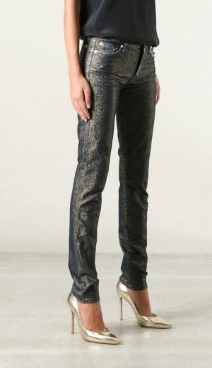 7 For All Mankind 'The Skinny, The Second Skin' golden star Jacquard Jeans w26
