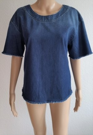 7 For All Mankind Top basic blu scuro Cotone