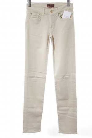 "7 For All Mankind Treggings ""roxanne"" beige chiaro"