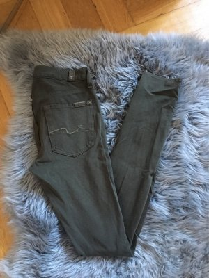 7 for all mankind w26 olive grün khaki 36 38 leggings jeggings skinny Stoffhose