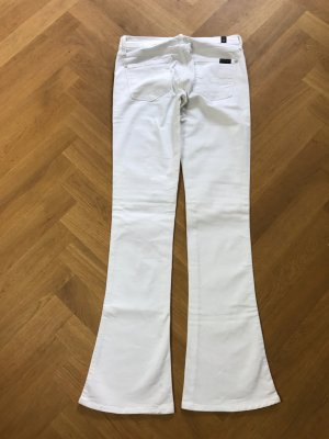 7 For All Mankind Jeans svasati bianco Cotone