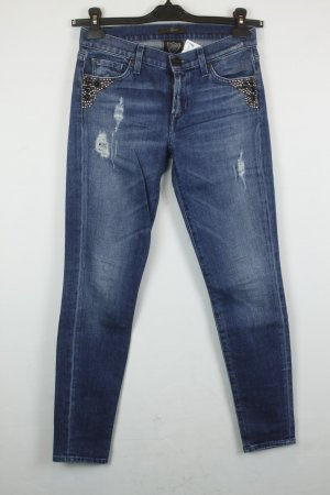 7 For All Mankind Skinny Jeans blue cotton