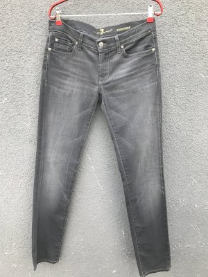 7 For All Mankind Vaquero slim gris Algodón