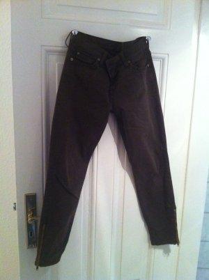 7- jeans dunkelbraun