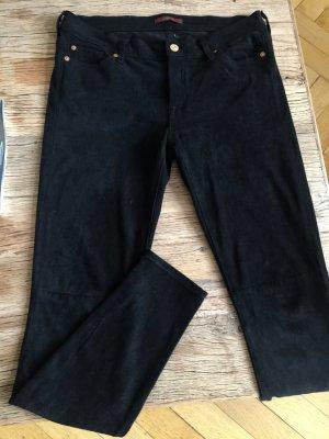 7 Jeans Wildleder optik Hose schwarz
