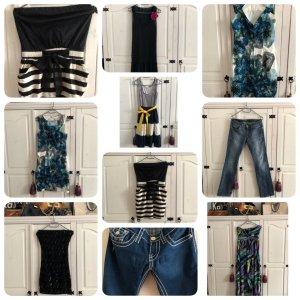 7 Kleider 2 Jeans Hose sehr gute Zustand