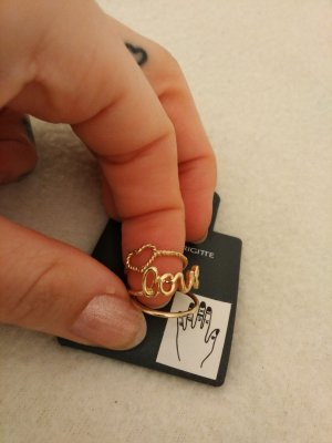 7 Ringe im Set Gold und Glitzersteine von Bijou Brigitte NEU und ungetragen mit Etikett!