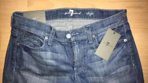 7 For All Mankind Pantalón de cinco bolsillos azul aciano